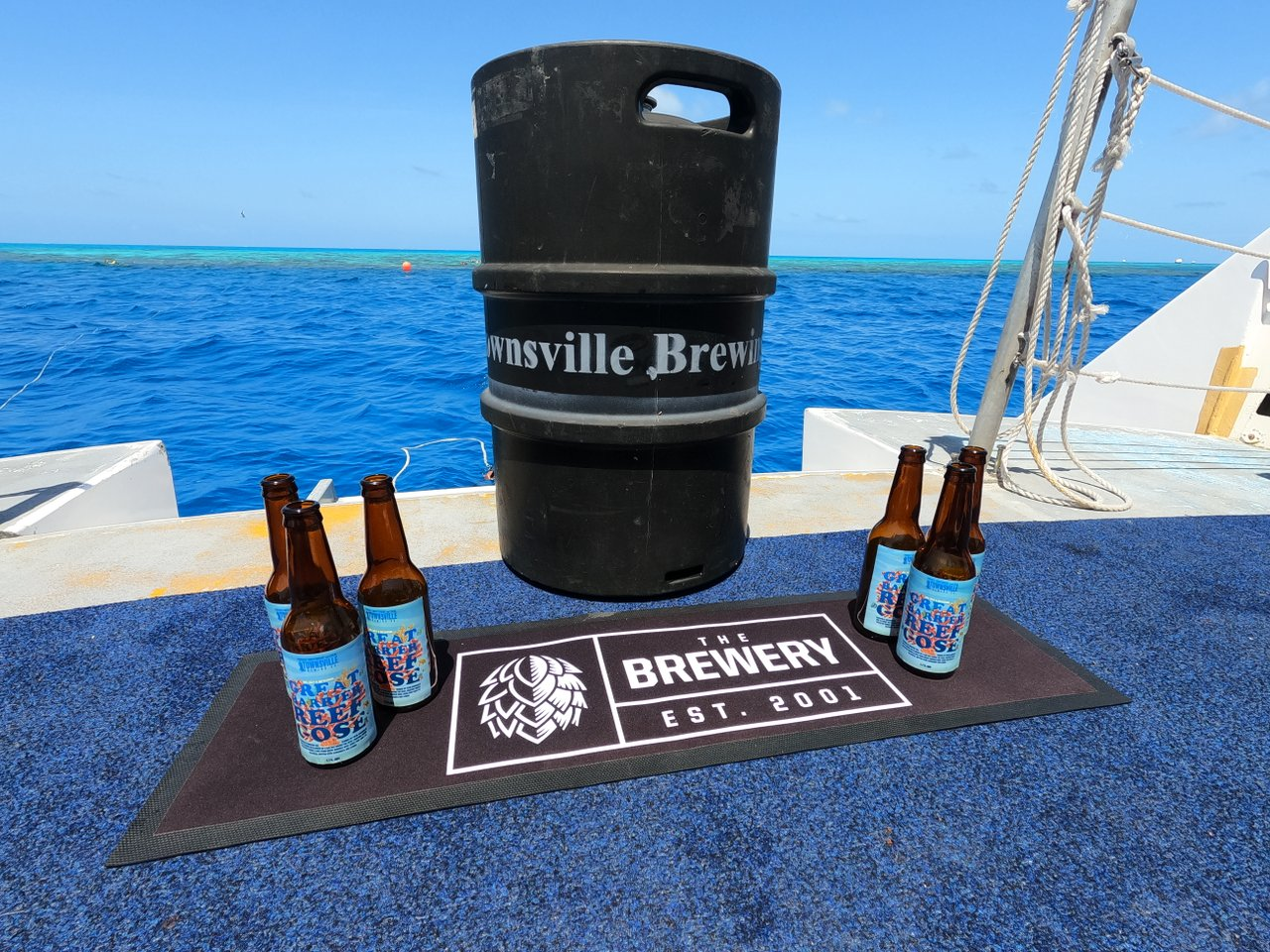 World's first beer brewed with water from the Great Barrier Reef being made in Townsville